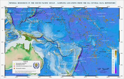 Mineral Resources in the South Pacific Ocean